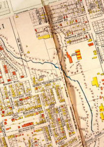historic map of oakvale avenue area 1913
