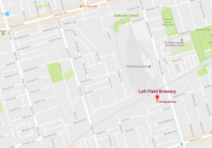map of brewery location